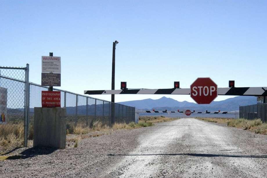 Guard Gate at Area 51 (Groom Lake, Dreamland) near Rachel, Nevada. Photo: Barry King