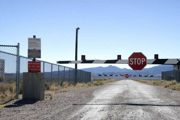 Guard Gate at Area 51 (Groom Lake, Dreamland) near Rachel, Nevada.