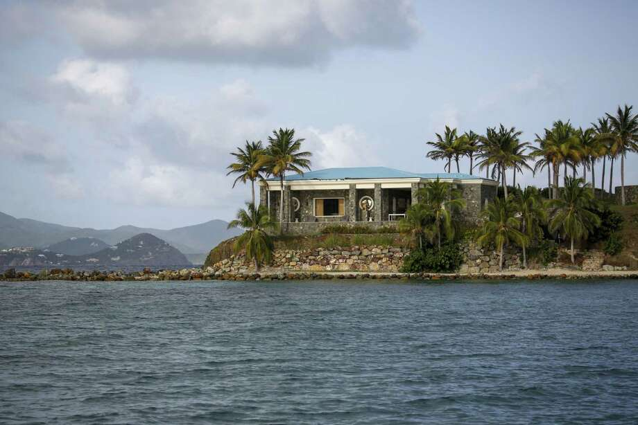 A house on Little St. James Island in St. Thomas, U.S. Virgin Islands, on July 10, 2019. Photo: Bloomberg Photo By Marco Bello. / The Washington Post