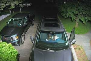 The Darien Police Department is looking for the public's help identifying a man involved with a car burglary.