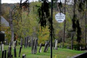 The Ridgebury Cemetery is located at 655 Ridgebury Road. in Ridgefield.