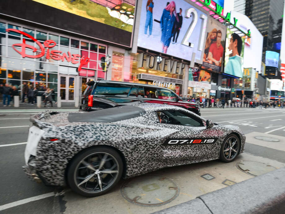 Photos of the disguised, next-generation, mid-engine Corvette have been multiplying like rabbits on the Internet. In April, Chevy teased the public when it took a heavily camouflaged (and guarded) Corvette on a short spin in New York City. Photo: Chevrolet