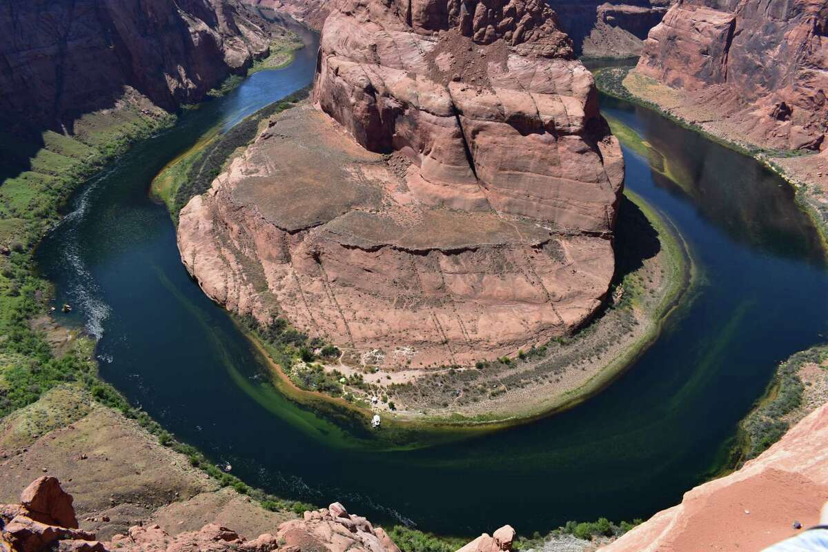 The Colorado River's Horseshoe Bend from 1,000 feet up.