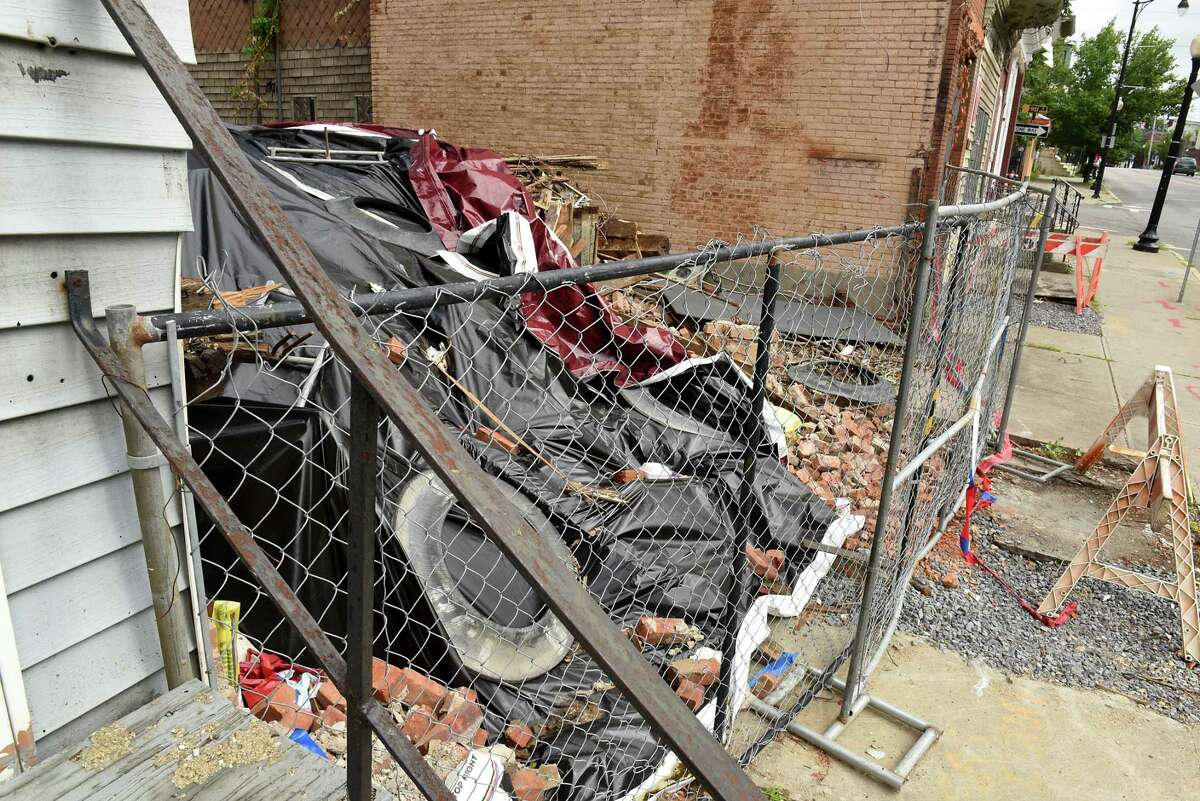 Building at 131 Henry Johnson Blvd, which is owned by the Albany Community Development Agency, was recently demolished Friday, July 12, 2019 in Albany, N.Y. (Lori Van Buren/Times Union)