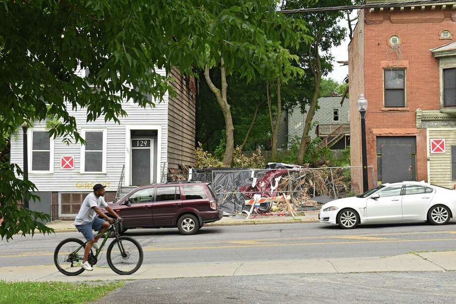 Building at 131 Henry Johnson Blvd, which is owned by the Albany Community Development Agency, was recently demolished Friday, July 12, 2019 in Albany, N.Y. (Lori Van Buren/Times Union) Photo: Lori Van Buren, Albany Times Union / 40047455A
