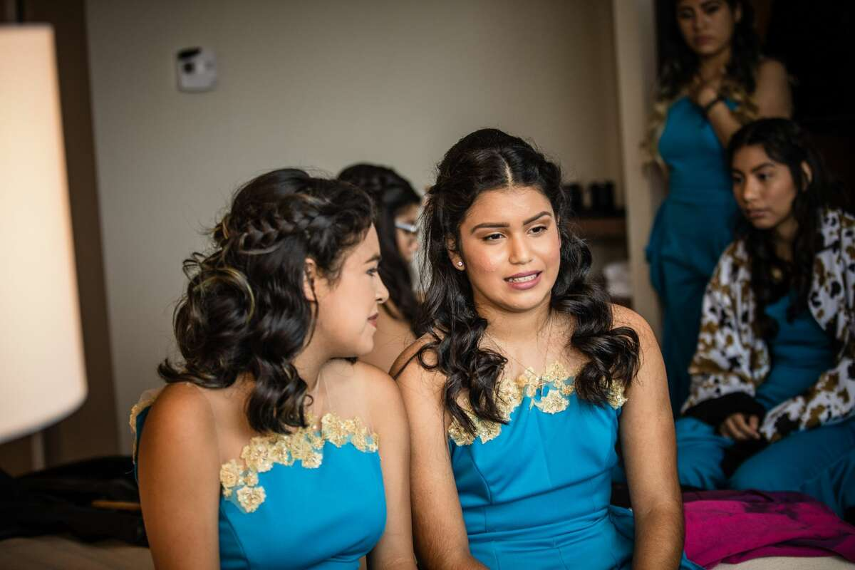 The theme of Houston resident Denise Toledo's quinceañera was Disney's 'Into the Woods' movie meets Wonder Woman.