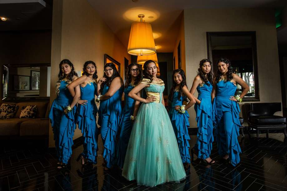 The theme of Houston resident Denise Toledo's quinceañera was Disney's 'Into the Woods' movie meets Wonder Woman. Photo: Blanca Duran
