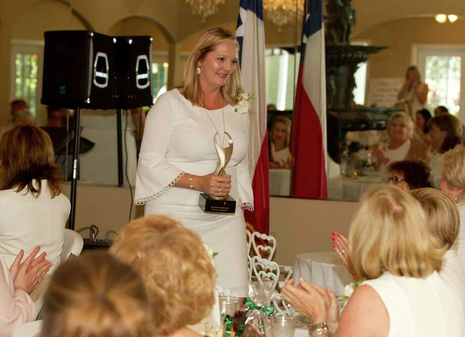 Danielle Scheiner received the inaugural ATHENA Leadership Award during a luncheon at Heather's Glenn on Thursday, July 26, 2018, in Conroe. The event honored 18 women for their professional excellence, community involvement, leadership and involvement in the Conroe/Lake Conroe Chamber of Commerce. Photo: Jason Fochtman, Staff Photographer / Staff Photographer / © 2018 Houston Chronicle