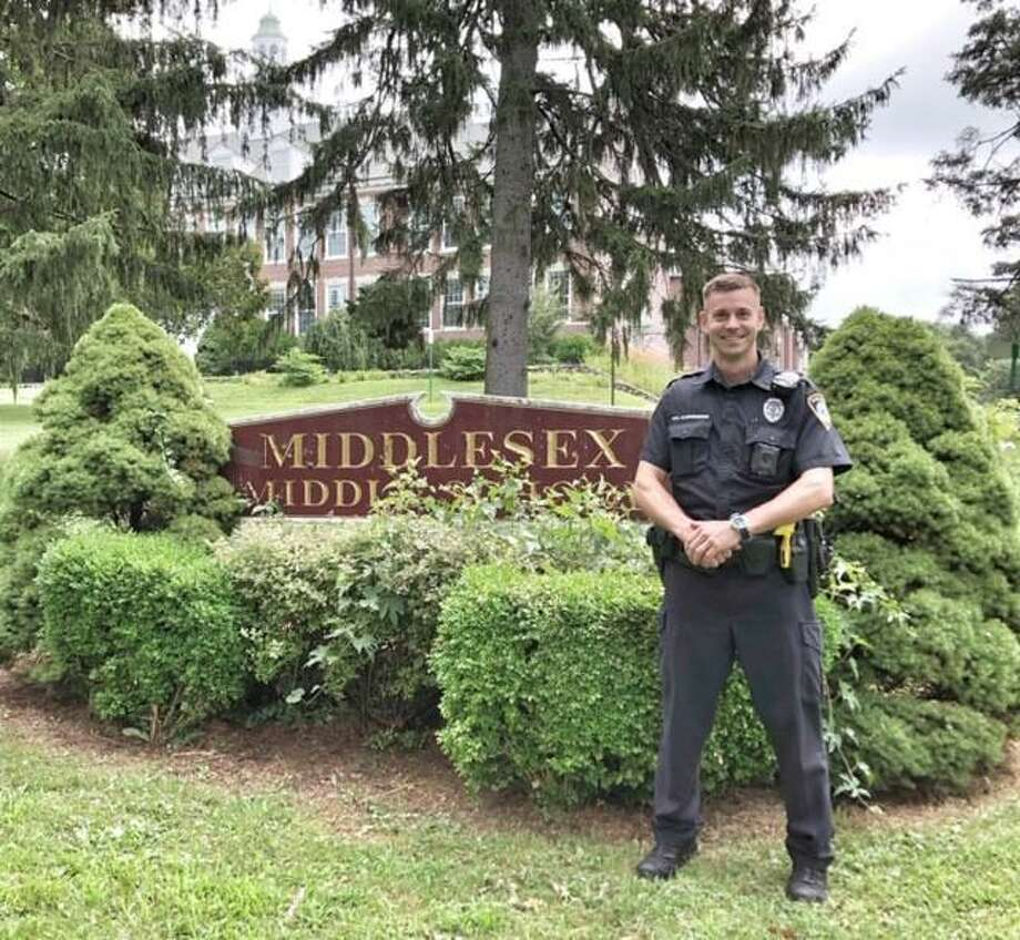 Officer Stuart Schwengerer has been selected as the Darien Police Department's first School Resource Officer (S.R.O.) for Middlesex Middle School. Photo: Contributed Photo / Darien Police Department / Connecticut Post