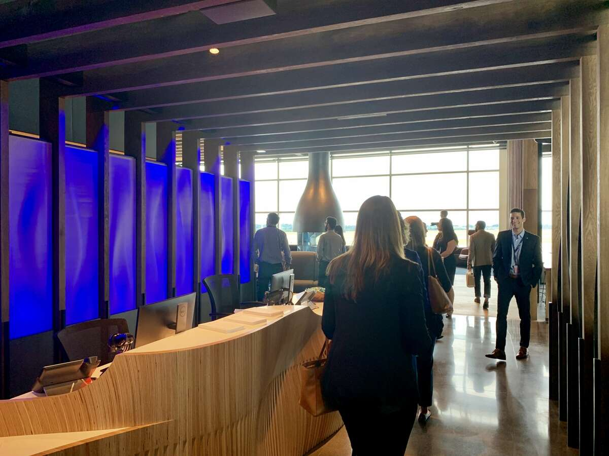 Alaska Airlines flagship Alaska Lounge at Seattle Airport's North Satellite Terminal opened in July 2019 with sweeping views from the runways to the mountains.