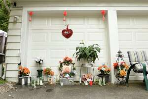The new memorial in Mary Gause's driveway to commemorate her son Dalon Blunt on Friday, July 12, 2019 in Albany, N.Y. Police took down a memorial that was built in her driveway to commemorate her son Dalon, a 28-year-old man who was shot and killed in Albany in December. (Lori Van Buren/Times Union)