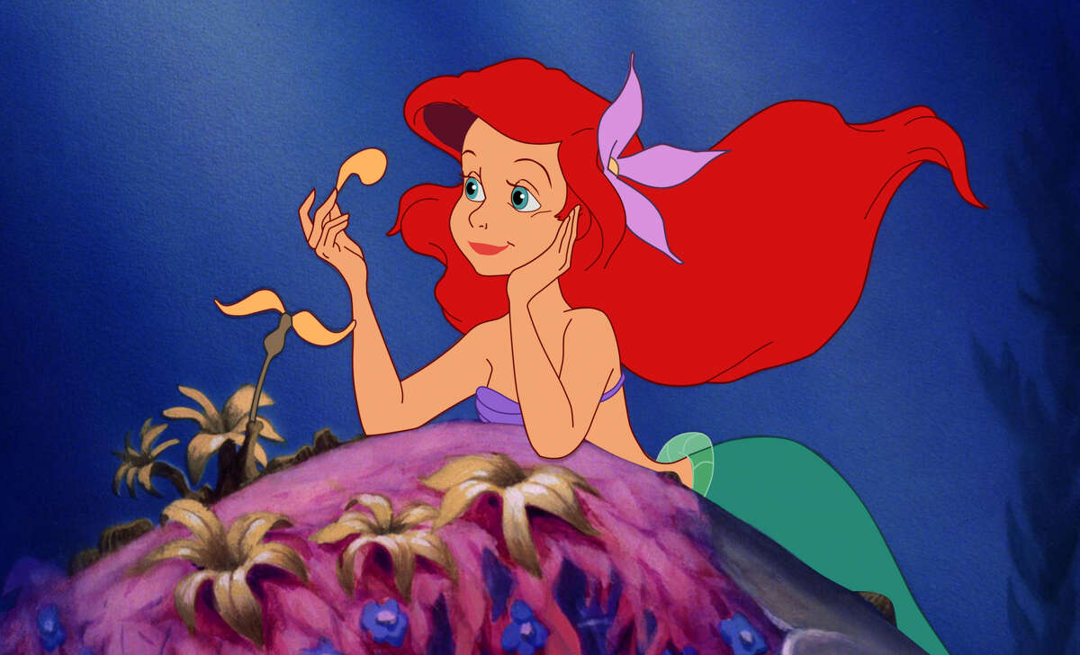 This image released by Disney shows Ariel, voiced by Jodi Benson, in a scene from