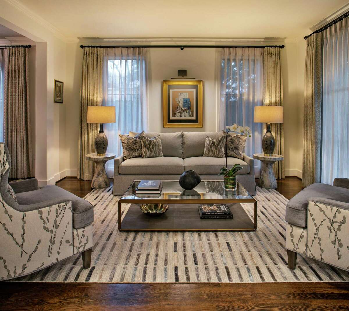 Kim and Andreas Tolias embarked on a whole-home renovation that turned their little-used living room into a showplace for entertaining. Their interior designer was Fabrice Plantard Decoration.