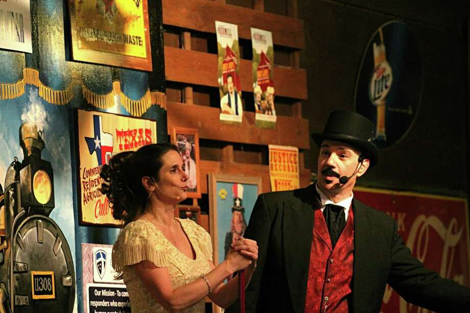"Old West Melodrama's production, ""Nickers in a Twist,"" will open Aug. 2. Shown here: actors perform during a previous show at Puffabelly's in Old Town Spring. Photo: Courtesy Of Old West Melodrama"