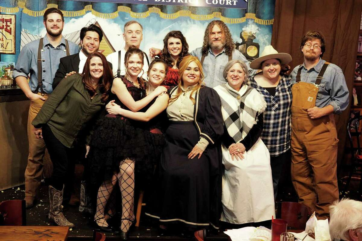The cast of Old West Melodrama's production of