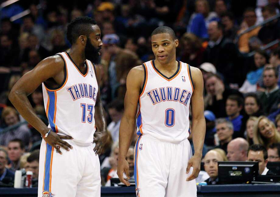 hot sale online be23c e1ba6 NBA: Westbrook, Harden will need to change their games - The ...