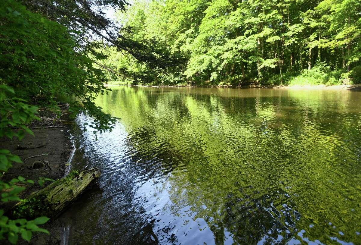 The Shepaug River at the Roxbury Land Trust's River Road Preserve in Roxbury, Conn. on Tuesday, July 9, 2019.