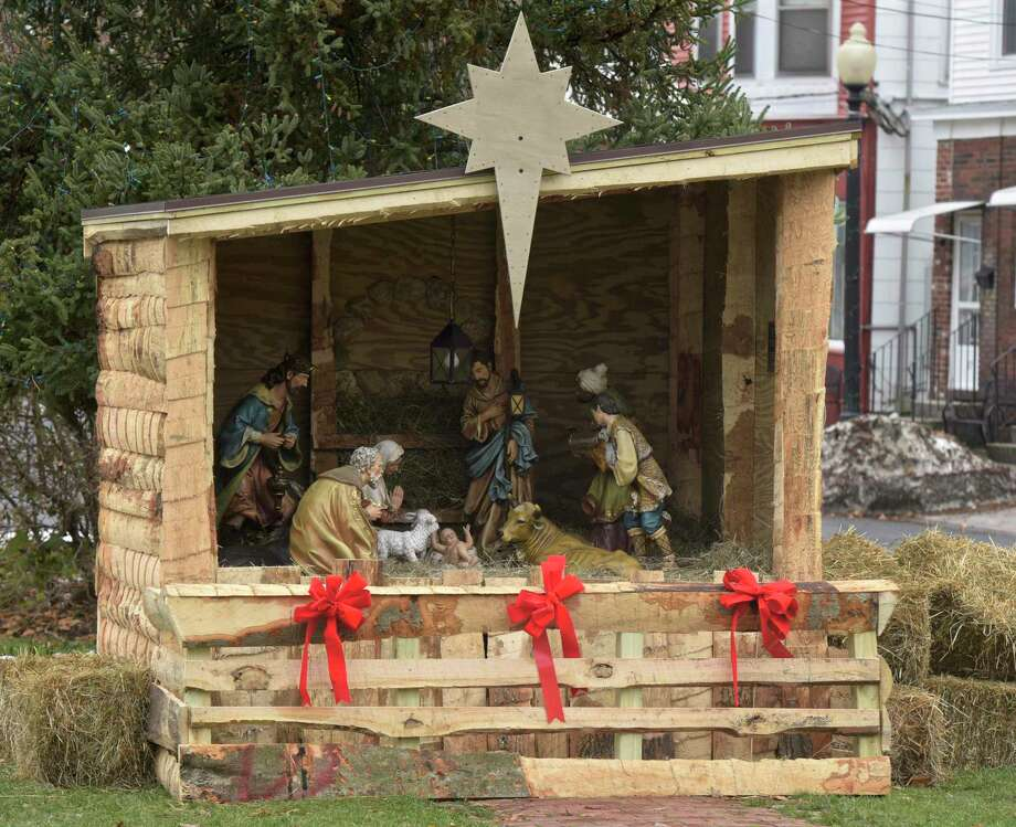 The nativity display in P.T. Barnum Square, downtown Bethel, Conn, Tuesday, November 20, 2018. Photo: H John Voorhees III / Hearst Connecticut Media / The News-Times
