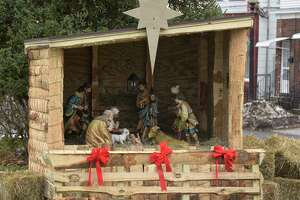 The nativity display in P.T. Barnum Square, downtown Bethel, Conn, Tuesday, November 20, 2018.