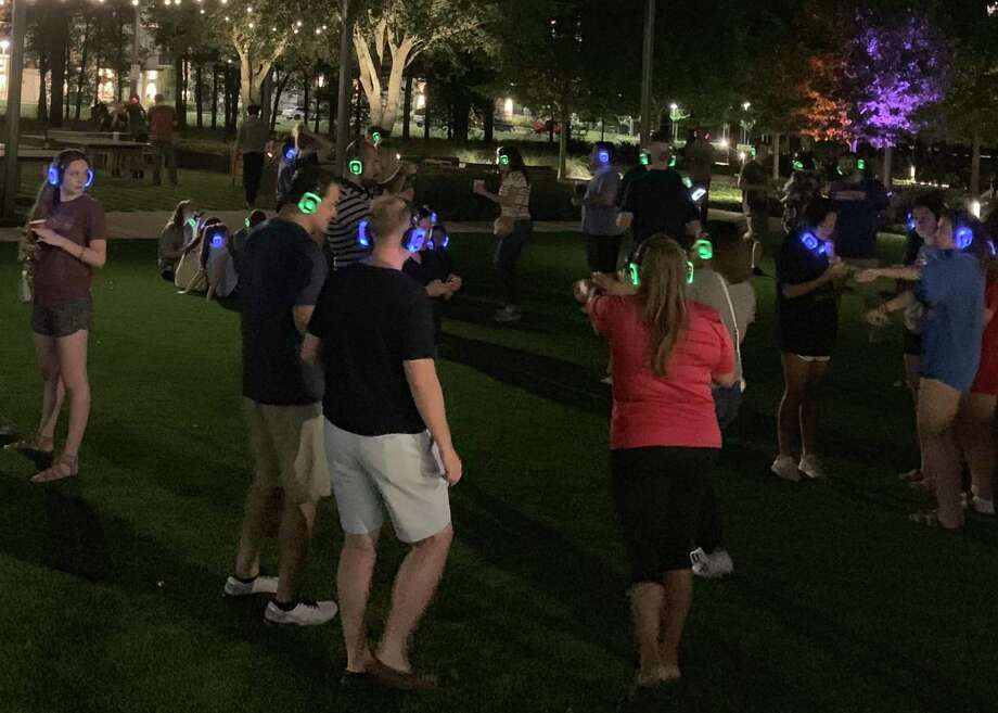 The Lunar Landing 50th Anniversary Celebration will feature a silent disco for all participants to dance to their own soundtrack with space-themed films playigng in the background. Photo: Springwoods Village