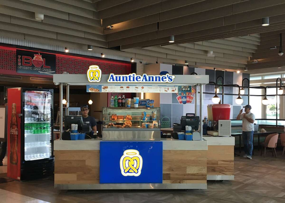 """Auntie Anne's: Two free medium drinks when you purchase any variety Pretzel Bucket. Offer only """"for a limited time."""" Located in Midland Park Mall. Super Bowl food deals and bargains >>>"""