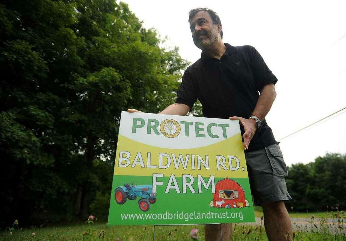 Woodbridge Land Trust President Bryan Pines