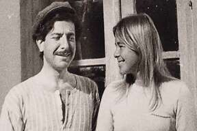 """Leonard Cohen and Marianne Ihlen in an early photograph together in the film """"Marianne & Leonard: Words of Love."""""""