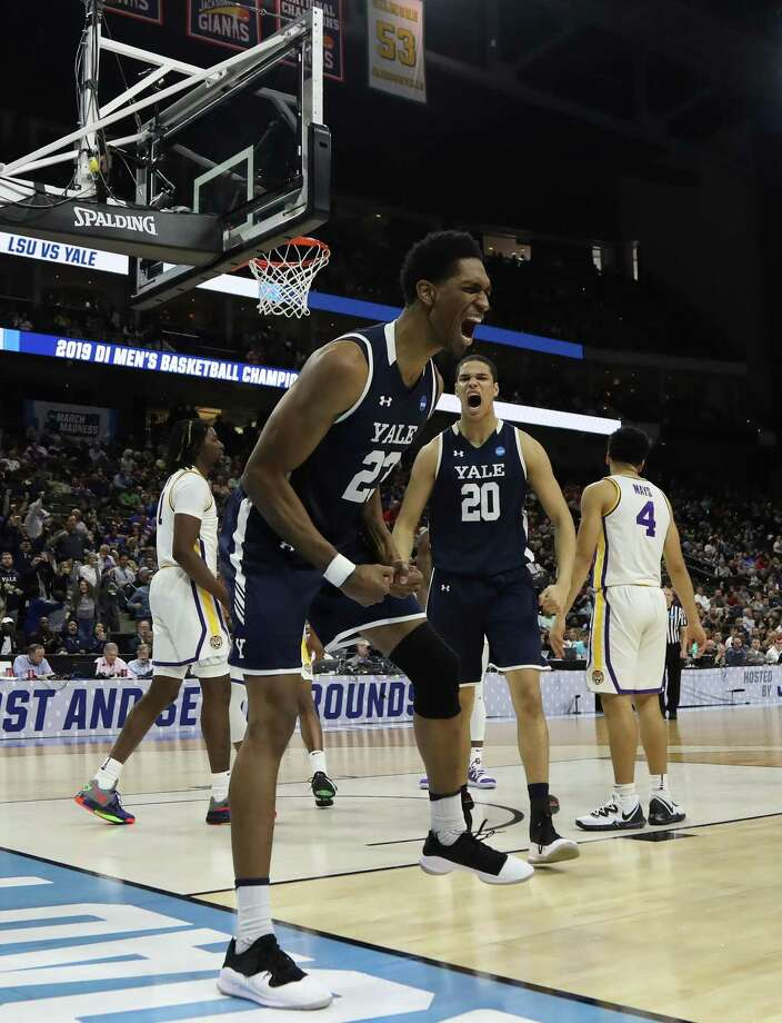 Jordan Bruner (23) and Paul Atkinson (20) have led Yale to a program record 12 non-conference wins Photo: Sam Greenwood / Getty Images / 2019 Getty Images