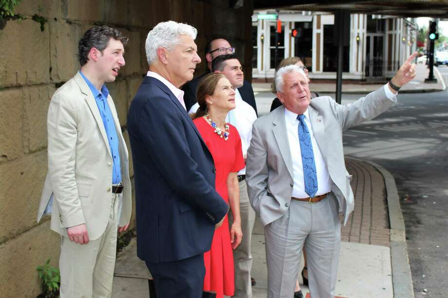 Lt. Governor Susan Bysiewicz took a small business tour through South Norwalk on Friday, July 12, 2019 with Mayor Harry Rilling, Jessica Casey, Norwalk's Chief of Economic and Community Development, David Kooris, the Deputy Commissioner of the Connecticut Department of Economic and Community Development and Bruce Beinfield, of Beinfield Architecture. Photo: Kelly Kultys / Hearst Connecticut Media