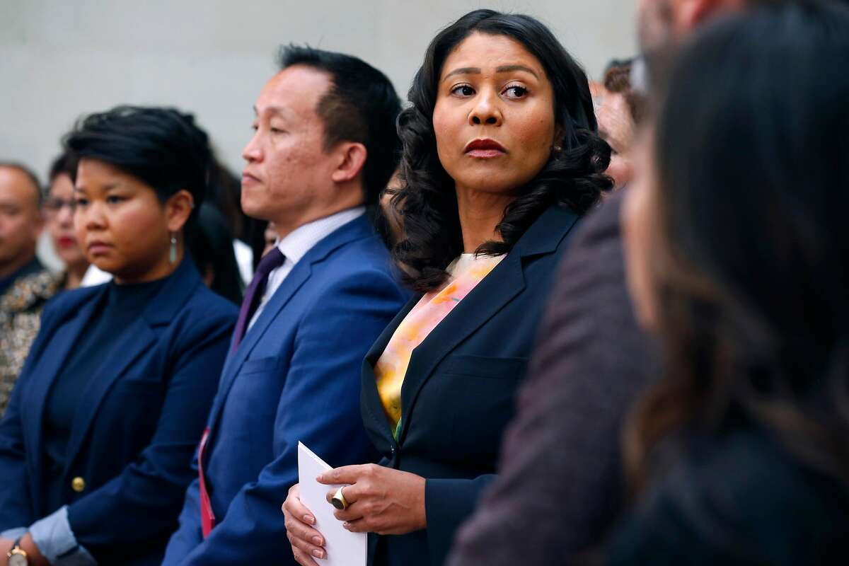Mayor London Breed and Assemblyman David Chiu appear at a news conference at City Hall in San Francisco, Calif. on Friday, July 12, 2019 to reaffirm their commitment to protect immigrants ahead of planned raids by ICE agents beginning this weekend.