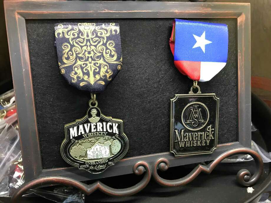 Maverick Whiskey's Fiesta medals Photo: Paul Stephen /Staff