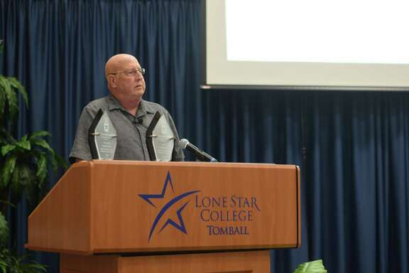 Lynn LeBouef, CEO of the Tomball Regional Health Foundation, presented the many ways his organization funds efforts around the community, including AEDs all over Tomball and medical equipment for nursing students.