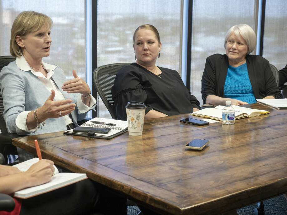 Susan Spratlen with Pioneer Natural Resources, speaks 07/09/19 with area foundation leaders and Permian Strategic Partnership about opening 7 new charter schools with IDEA Public Schools in the Midland and Odessa area by 2025. Tim Fischer/Reporter-Telegram Photo: Tim Fischer/Midland Reporter-Telegram