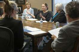 Bethany Solis, with IDEA Public Schools, speaks 07/09/19 with area foundation leaders and Permian Strategic Partnership about opening 7 new charter schools in the Midland and Odessa area by 2025. Tim Fischer/Reporter-Telegram