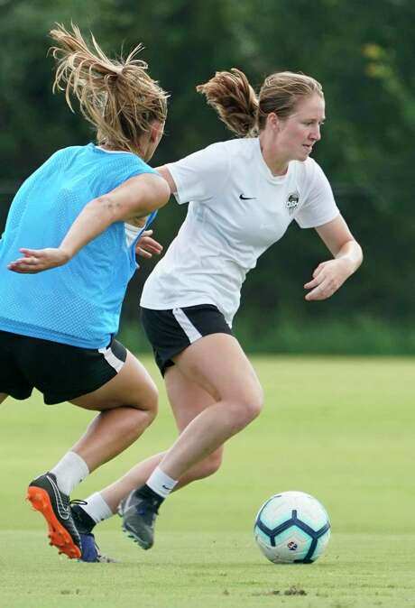 Dash academy's Kate Colvin, 17, practiced with the squad while some members were competing in the Women's World Cup.