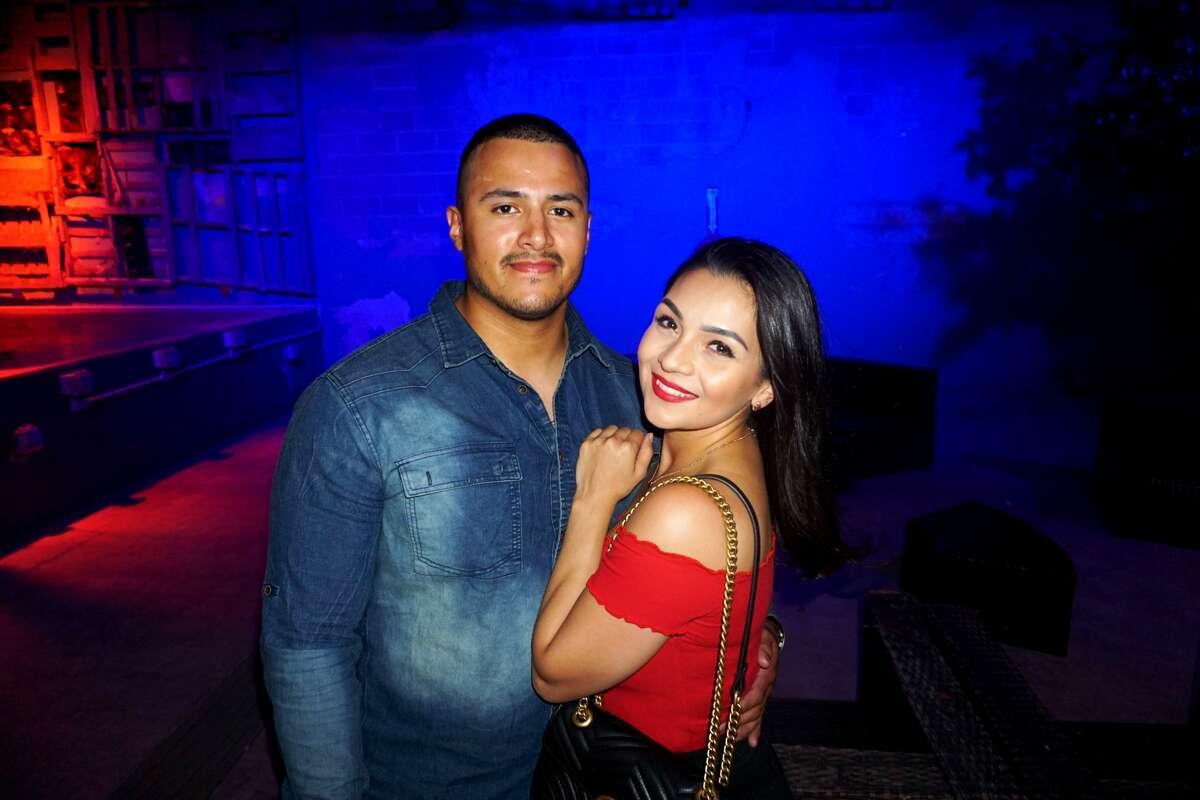 Edgar Cabrera and April Corona at Siete Banderas