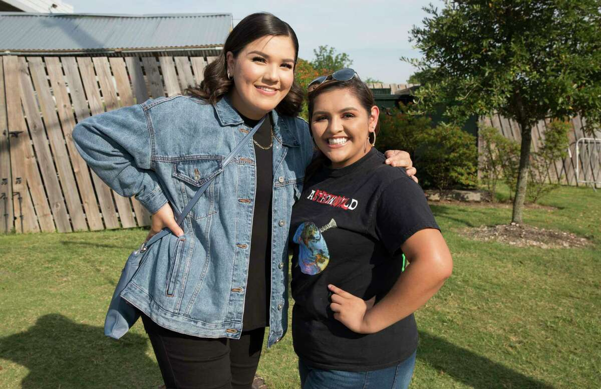 Fans of 21 Savage pose for a photograph before concert at White Oak Music Hallon Friday, July 12, 2019, in Houston.