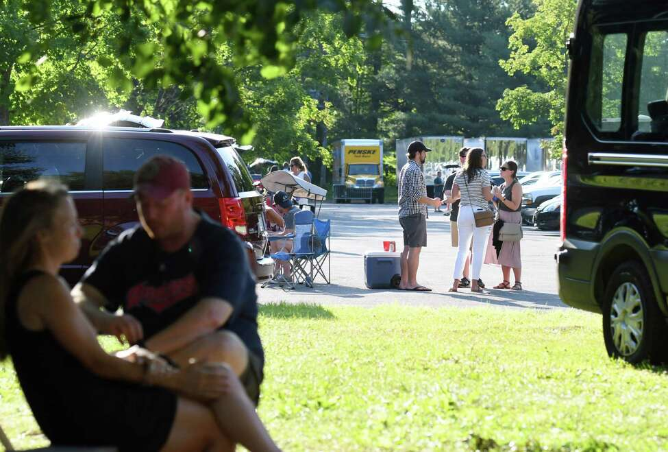 People tailgate before the Dave Matthews Band Concert on Friday, July 12, 2019 at SPAC in Saratoga Springs, NY. (Phoebe Sheehan/Times Union)