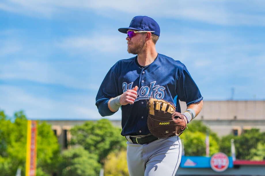 Corpus Christi Hooks' Seth Beer jogs during a May 22 Texas League game against the Amarillo Sod Poodles. Photo by John Moore Photo: John Moore/Amarillo Sod Poodles