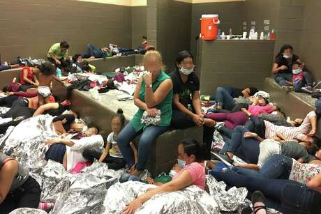 WESLACO, TX - JUNE 11: In this handout photo provided by the Office of Inspector General, overcrowding of families is observed by OIG at U.S. Border Patrol Weslaco Station on June 11, 2019, in Weslaco, Texas. (Photo by Office of Inspector General/Department of Homeland Security via Getty Images)