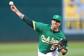 OAKLAND, CA - JULY 12:  Mike Fiers #50 of the Oakland Athletics pitches against the Chicago White Sox in the top of the first inning at Ring Central Coliseum on July 12, 2019 in Oakland, California.  (Photo by Thearon W. Henderson/Getty Images)