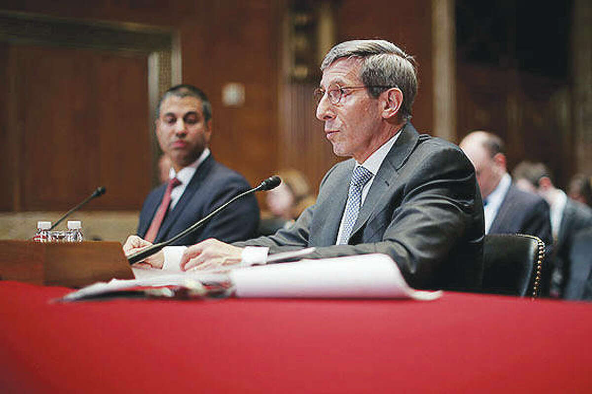 Federal Trade Commission Chairman Joseph Simons testifies in May before the Senate Financial Services and General Government Subcommittee about the regulation of robo-calls.