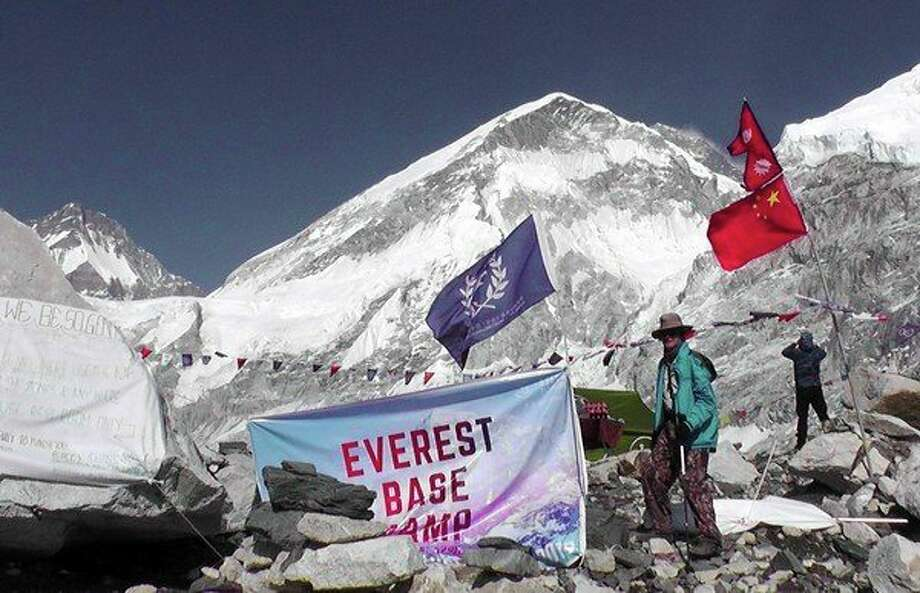 Harbor Beach native, Gerald Essenmacher, traveled to Mountain Madness camp which was located at the far end of the Everest Base Camp. (Submitted Photo)