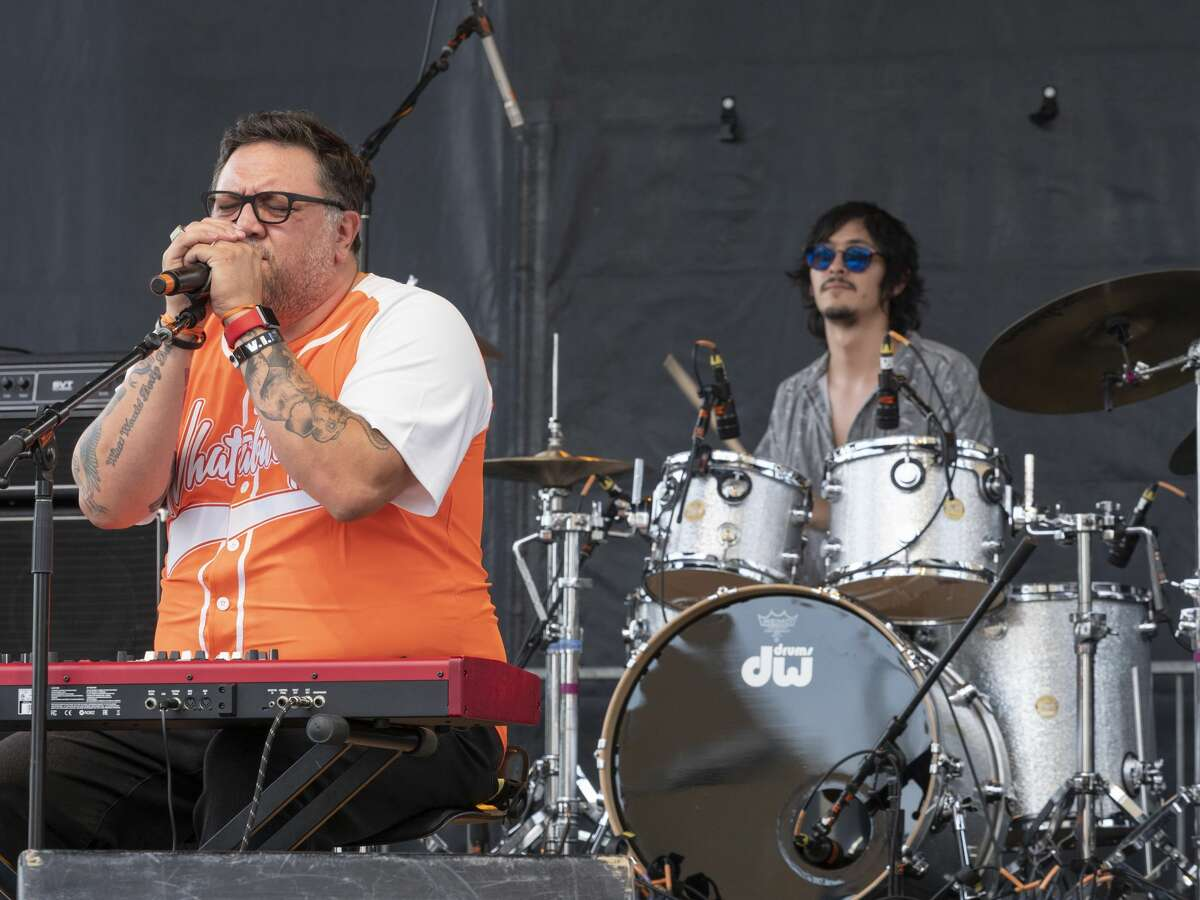 Nakia sings on the main stage 07/12/19 evening as he and the Blues Grifters perform at the Tall City Blues Fest. Tim Fischer/Reporter-Telegram