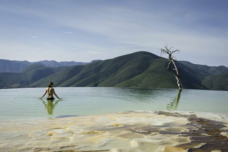 Hierve el Agua, natural rock formations in the Mexican state of Oaxaca. Photo: Lindsay Upson/Getty Images/Image Source