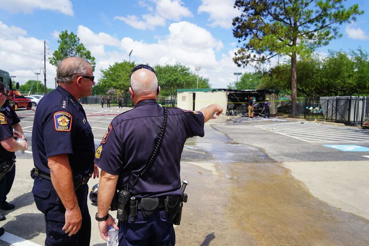 Constable Ted Heap's deputies responded to a plane crash in the Katy neighborhood of Nottingham Country Saturday morning, July 13, 2019.