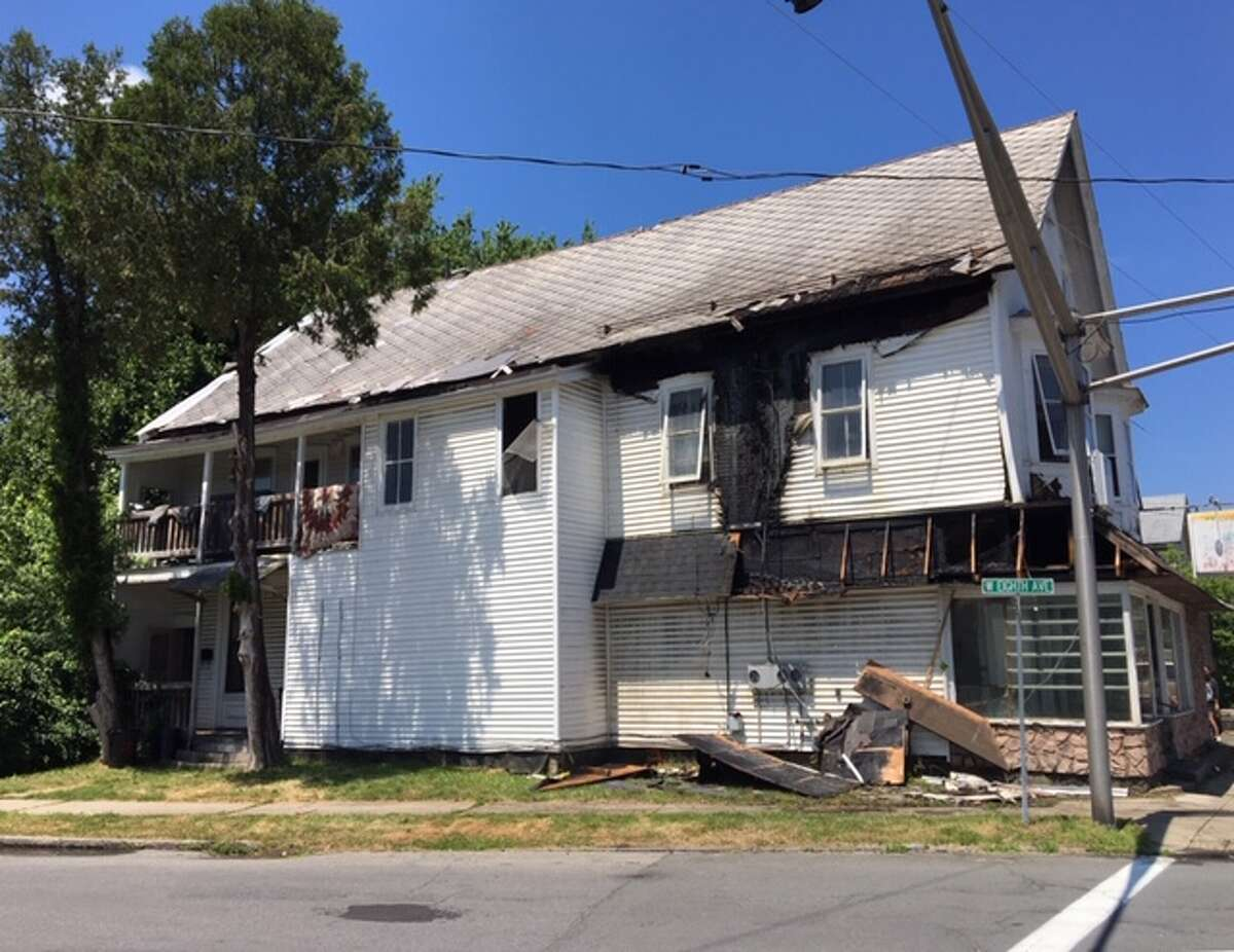 A contractor sparked a fire in Gloversville on Saturday, July 13, 2019.