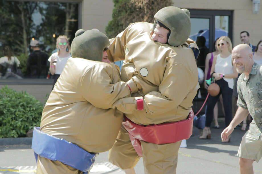 No Worries Brewing Company in Hamden held its annual SumoSlam 2019 on July 13. Participants dressed up in inflatable sumo costumes and competed for the title of champion. Were you SEEN? Photo: Ken (Direct Kenx) Honore / Hearst CT Media
