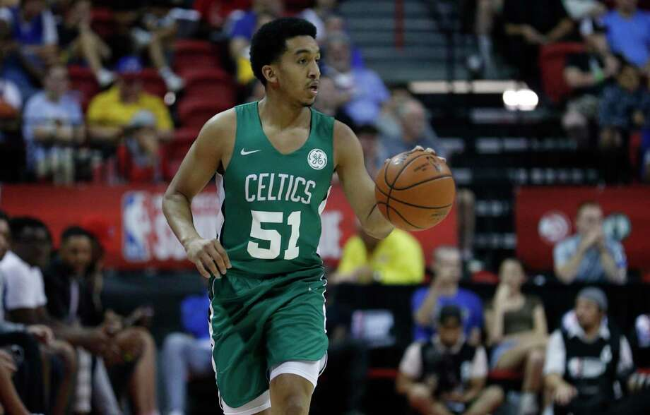 The Celtics' Tremont Waters plays against the Grizzlies in a summer league game Thursday in Las Vegas. Photo: John Locher / Associated Press / Copyright 2019 The Associated Press. All rights reserved.