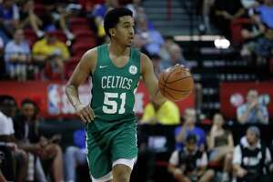 The Celtics' Tremont Waters plays against the Grizzlies in a summer league game Thursday in Las Vegas.